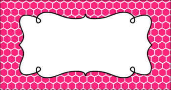 Editable Teacher Toolbox Labels - Basics: Honeycomb and White