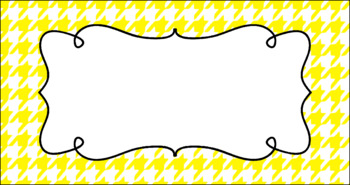 Editable Teacher Toolbox Labels - Basics: Houndstooth and White