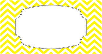 Editable Teacher Toolbox Labels - Basics: Jumbo Chevron and White