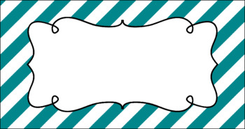 Editable Teacher Toolbox Labels - Basics: Jumbo Diagonal Stripes and White