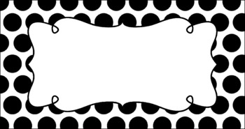 Editable Teacher Toolbox Labels - Basics: Jumbo Polka Dots and White