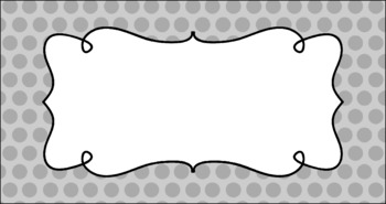 Editable Teacher Toolbox Labels - Basics: Polka Dots