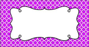 Editable Teacher Toolbox Labels - Basics: Quatrefoil and White