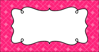Editable Teacher Toolbox Labels - Basics: Rectangles