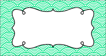 Editable Teacher Toolbox Labels - Basics: Scalloped Lined and White