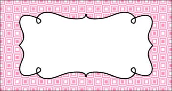 Editable Teacher Toolbox Labels - Basics: Squares and White