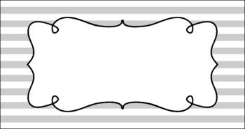 Editable Teacher Toolbox Labels - Basics: Stripes