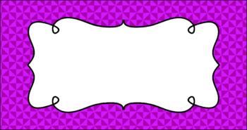 Editable Teacher Toolbox Labels - Basics: Triangles
