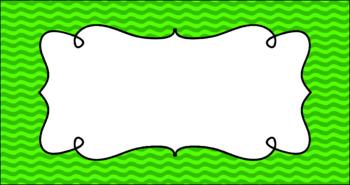 Editable Teacher Toolbox Labels - Basics: Waves