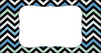Editable Teacher Toolbox Labels - Multi-Color Collection: Beach
