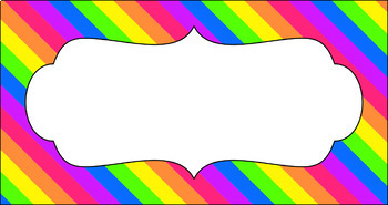 Editable Teacher Toolbox Labels - Rainbow: Bright