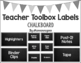 Editable Teacher Toolbox Labels - Chalkboard