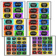 Editable Teacher Toolbox Labels Chalkboard Brights