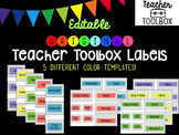 Editable Original Chevron Teacher Toolbox Labels