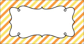 Editable Teacher Toolbox Labels - Citrus