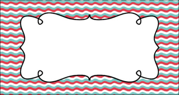 Editable Teacher Toolbox Labels - Coastal Affair