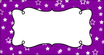 Editable Teacher Toolbox Labels - Colorful Confetti - Stars and Dots