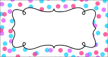 Editable Teacher Toolbox Labels - Colorful Confetti (White Background)