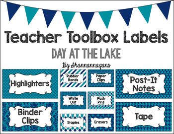 Editable Teacher Toolbox Labels - Day at the Lake