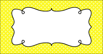 Editable Teacher Toolbox Labels - Essentials: Circle Diamonds (inverted)