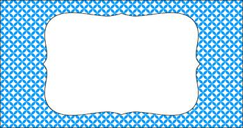 Editable Teacher Toolbox Labels - Essentials & White: Circle Diamonds (inverted)