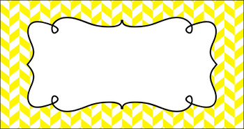 Editable Teacher Toolbox Labels - Essentials & White: Divided Chevron