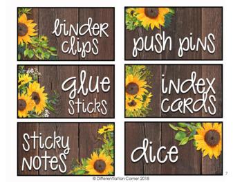 Editable Teacher Toolbox Labels Farmhouse Theme