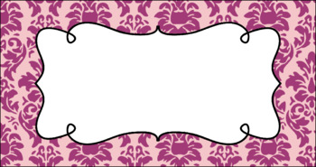 Editable Teacher Toolbox Labels - Girly