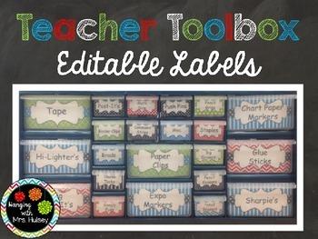 Editable Teacher Toolbox Labels (Isabella Version)