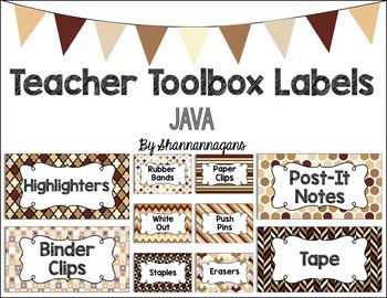 Editable Teacher Toolbox Labels - Java