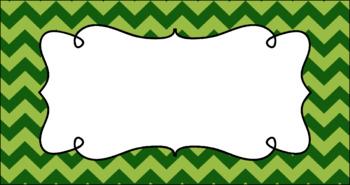 Editable Teacher Toolbox Labels - Leafy Green