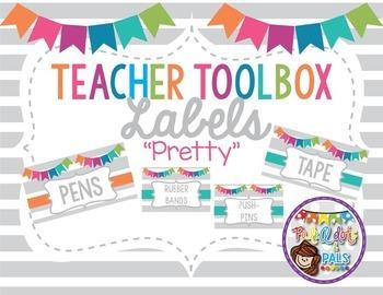 Editable Teacher Toolbox Labels (Light)