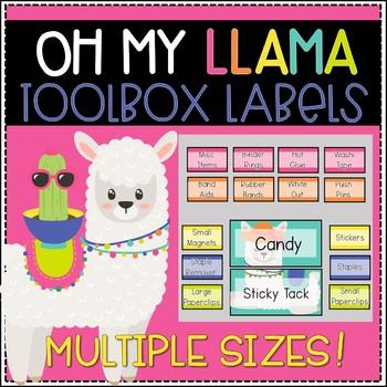 Editable Teacher Toolbox Labels (Llama)