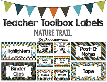 Editable Teacher Toolbox Labels - Nature Trail