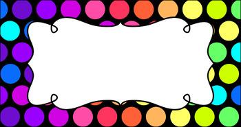 Editable Teacher Toolbox Labels - Rainbow: Neon Rainbow