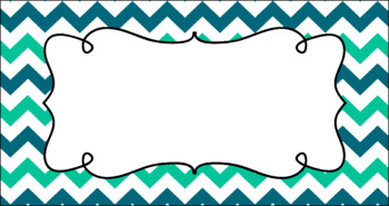 Editable Teacher Toolbox Labels - Ocean Waves