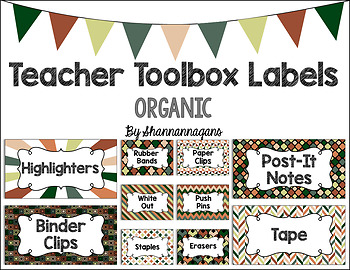 Editable Teacher Toolbox Labels - Organic