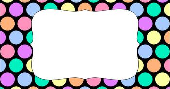 Editable Teacher Toolbox Labels - Rainbow: Pastel