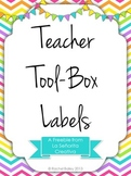 Editable Teacher Toolbox Labels - Rainbow Chevron