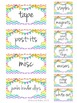 Editable Teacher Toolbox Labels - Rainbow Chevron