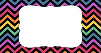 Editable Teacher Toolbox Labels - Rainbow: Jaded Rainbow