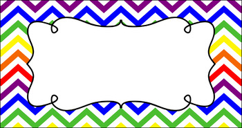 Editable Teacher Toolbox Labels - Rainbow: Primary