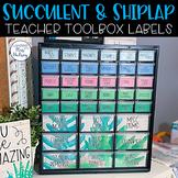Editable Teacher Toolbox Labels (Succulent and Shiplap)