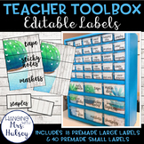 Editable Teacher Toolbox Labels (Succulent and Shiplap)