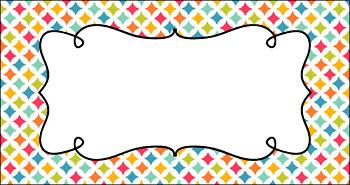 Editable Teacher Toolbox Labels - Sweet Summertime