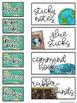 Editable Teacher Toolbox Labels {Travel Themed}