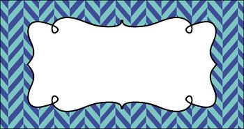 Editable Teacher Toolbox Labels - White Water Rapids