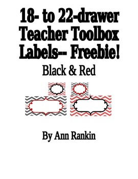 Editable Teacher Toolbox Labels in Black & Red