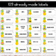 Editable Teacher Toolbox Labels with Pictures Editable Pineapple Classroom Decor