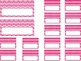Editable Teacher Toolbox {Pink Dots & Chevron}